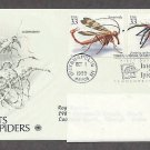 Insects and Spiders, Scorpionfly, Jumping Spider, PCS, Addressed, First Issue USA