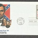 World Stamp Expo 89, Abraham Lincoln 1869 Stamp Design, First Issue USA
