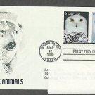 Arctic Animals, Snowy Owl, Polar Bear, PCS, Addressed, First Issue USA