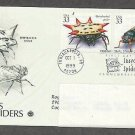 Insects and Spiders, Spinybacked Spider, Periodical Cicada, PCS, Addressed, First Issue USA