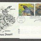 Sonoran Desert, Gambel Quail, Western Diamondback Rattlesnake, Cactus Mouse, PCS Addressed, FDC