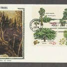 Trees, White Pine, Giant Sequoia, Gray Birch, Oak, CS First Issue USA