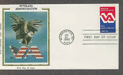 50th Anniversary of the Veterans Administration, VA, CS First Issue USA
