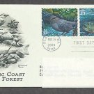 Pacific Coast Rain Forest, American Dipper, Cutthroat Trout, PCS, Addressed, First Issue USA