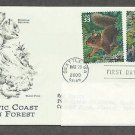 Pacific Coast Rain Forest, Douglas Squirrel, Banana Slug, PCS, Addressed, First Issue USA