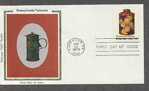 Pennsylvania Toleware, Tea Caddy, Lancaster Amish, CS First Issue USA