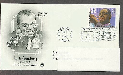 Honoring Jazz Great Louis Armstrong, PCS First Issue USA