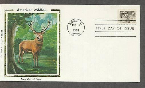 American Wildlife, Elk, CS First Issue USA