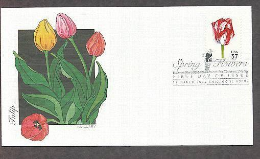 Spring Flowers, Tulip, 2005 FW First Issue USA