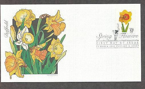 Spring Flowers, Daffodil, 2005 FW First Issue USA