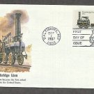 Railroad Steam Locomotive, Stourbridge Lion, 1829, First U.S. Locomotive FW First Issue USA