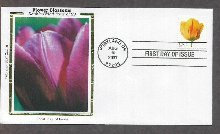 Beautiful Blooms, Tulip, 2007 Colorano Silk, 2007 First Issue USA