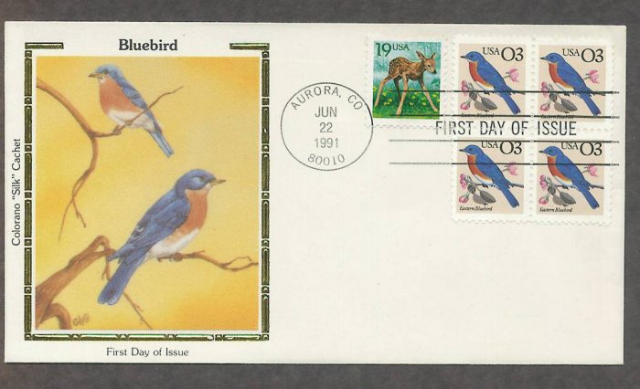 Bluebird, Colorano Silk First Issue USA
