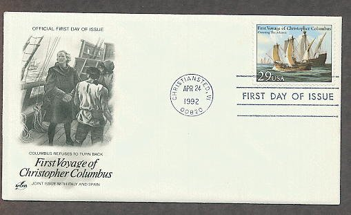 Christopher Columbus First Voyage, Crossing The Atlantic, First Issue USA