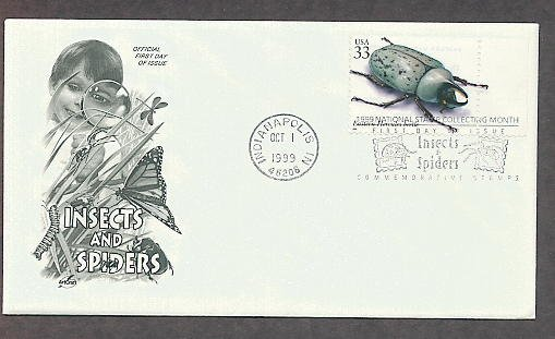 Insects and Spiders, Eastern Hercules Beetle, First Issue USA