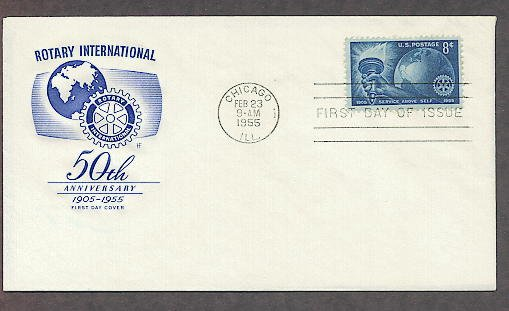 Rotary International Clubs, HF 1955 First Issue, 50th Anniversary USA