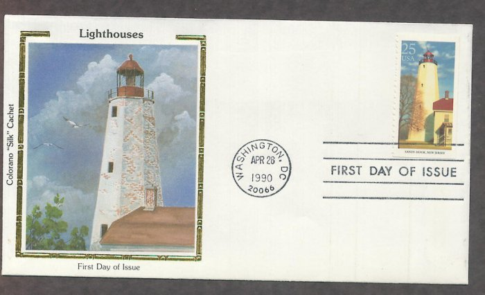 Sandy Hook Lighthouse, Oldest in USA, Atlantic City CS First Issue USA