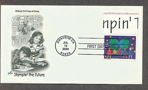 Future Stamp Designs by Children, Sarah Lipsey, Stampin' the Future First Issue USA