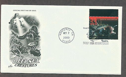 Fanfin Anglerfish, Deep Sea Creatures, First Issue USA