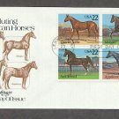 Horses, Appaloosa, Quarter Horse, Morgan, Saddlebred, First Issue USA