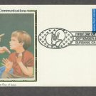 Deaf Communication, American Sign Language, CS 1993 USA FDC, First Day of Issue