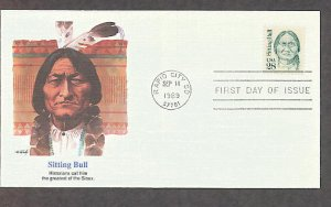 Sioux Chief Sitting Bull Native American Indian FW First Issue HF FDC USA