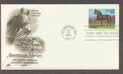 American Horses, Morgan, Lexington, Kentucky, AC First Issue USA