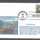 Lewis and Clark Expedition, Gary R. Lucy Painting, First Issue FDC USA