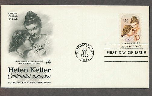 Blind Deaf Helen Keller, Anne Sullivan, AC First Issue USA
