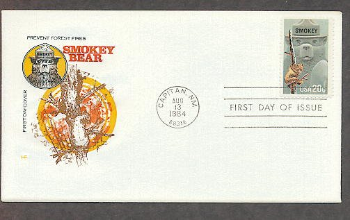 Smokey the Bear, Prevent Forest Fires, HF First Issue FDC USA
