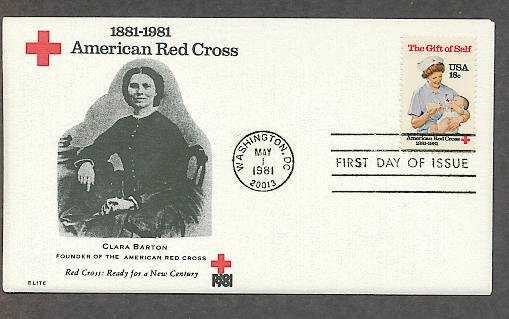American Red Cross, Civil War Nurse Clara Barton 1981 First Issue USA