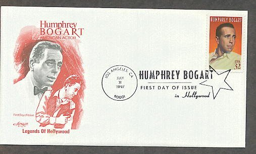 Honoring Humphrey Bogart, Hollywood Legend, First Issue USA!