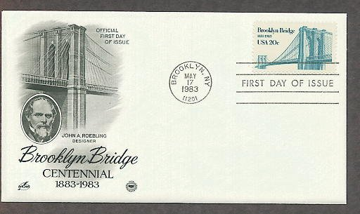 Brooklyn Bridge, 100th Anniversary, New York PCS First Issue USA!