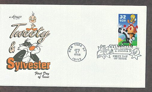 Sylvester and Tweety Bird Warner Bros. Looney Toons Cartoon Character AM First Issue USA!