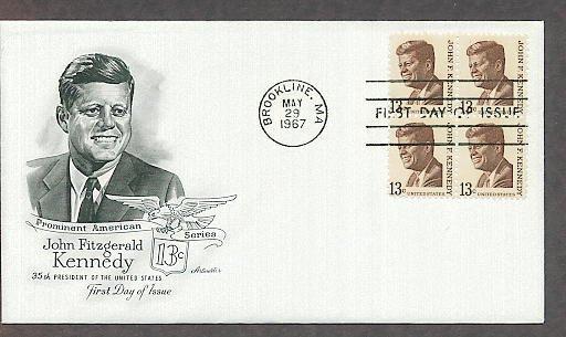 President John F. Kennedy, JFK,  Brookline, Massachusetts, AM First Issue USA!