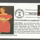 American Art, Ammi Phillips, Girl in Red Dress with Cat and Dog, First Issue USA!