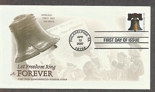 Liberty Bell, Forever Stamp, Symbol of America's Fight for Independence, AC 2007 First Issue!