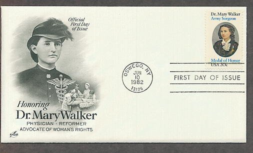 Dr. Mary Walker Civil War Surgeon, Medal of Honor, Women's Suffrage AC First Issue USA!
