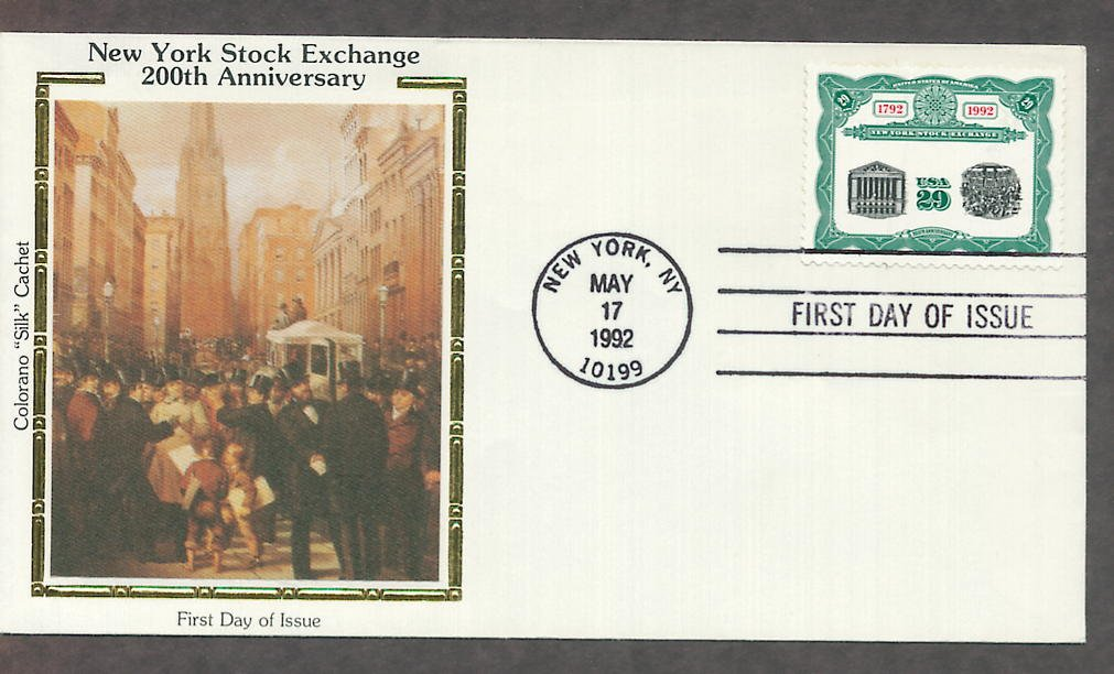 New York Stock Exchange, 200th Anniversary, CS First Issue USA!