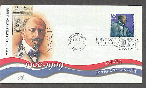 W.E.B. DuBois NAACP, 1900s, Black History First Day of Issue USA!