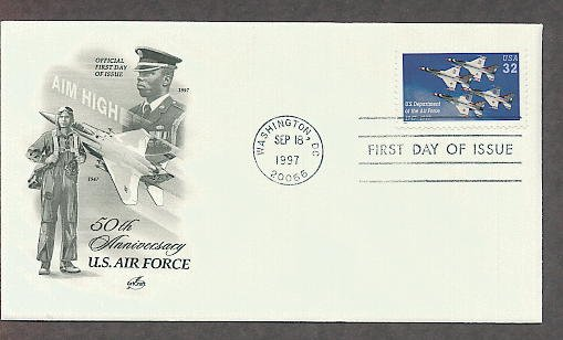 50th Anniversary of the U.S. Department of the Air Force, Aircraft, Thunderbirds AC First Issue USA!