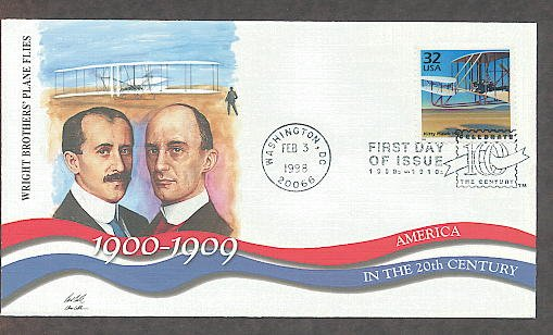 Kitty Hawk 1903, Wright Brothers, 1900s First Day of Issue USA!