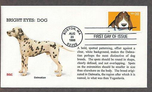 Dalmatian Dog, Bright Eyes, First Issue USA!