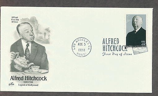 Movie Director Legend Alfred Hitchcock, First Issue FDC USA!