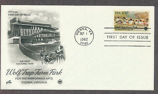 Wolf Trap Farm National Park for the Performing Arts, Vienna, Virginia, PCS First Issue USA!