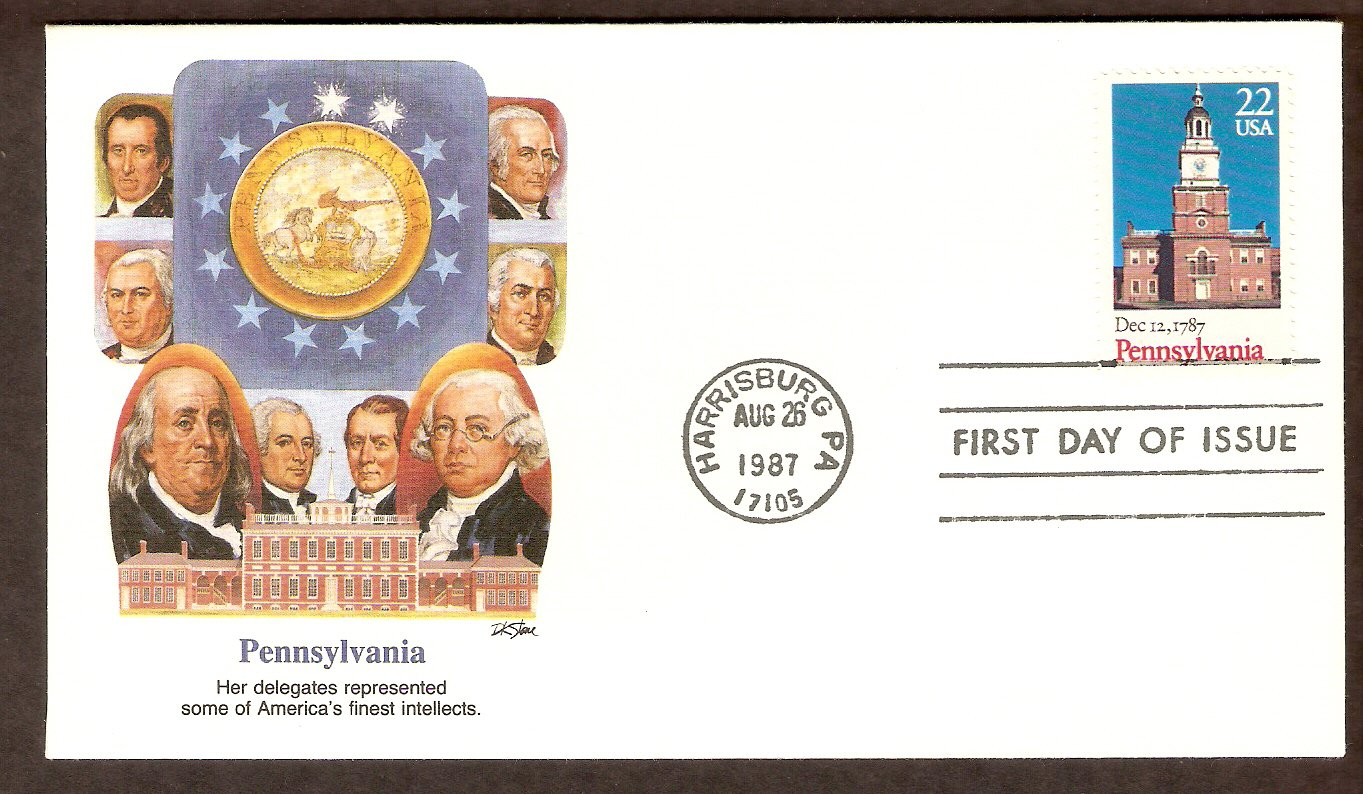Pennsylvania Statehood, Independence Hall, Bicentennial, FW First Issue USA