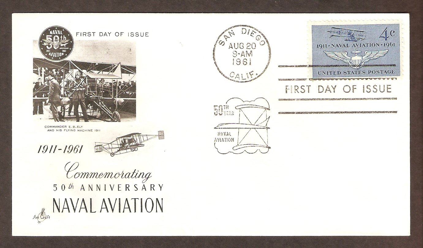 50th Anniversary of Naval Aviation, 1961 First Issue USA