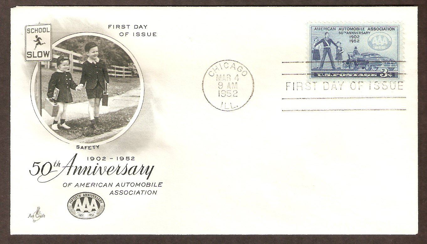 50th Anniversary of the American Automobile Association, AAA First Issue USA