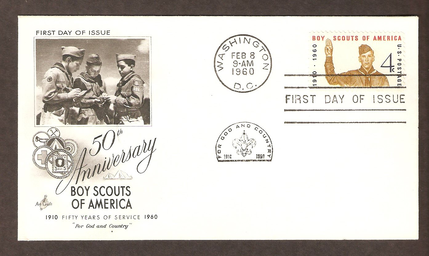 50th Anniversary Boy Scouts of America, BSA, Scout Oath, First Issue 1960 USA