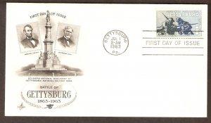 Civil War Centennial, Battle of Gettysburg, AC First Issue USA